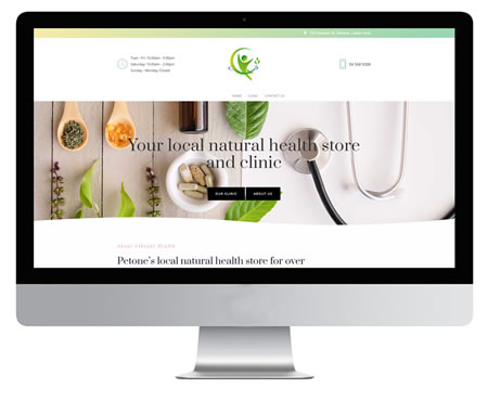Vibrant Health Website Example